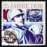 25 rocznica DDR podstawa około 1974, Zdjęcia Stock