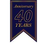 Rocznica, 40 rok stubarwnej ikony Może używać dla sieci, logo, mobilny app, UI, UX royalty ilustracja