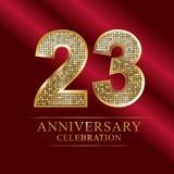 Rocznicowy świętowanie logotyp 21st rocznicowy logo dyskotek liczby Ilustracji