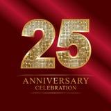 Rocznicowy świętowanie logotyp 25th rocznicowy logo dyskotek liczby Obraz Royalty Free