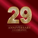 Rocznicowy świętowanie logotyp 29th rocznicowy logo dyskotek liczby Obrazy Stock
