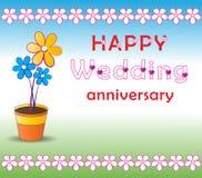 rocznicowy ślub ilustracja wektor