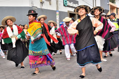 Rocznicowy przyjęcie Dla Edukacyjnej jednostki w Otavalo, Ekwador Zdjęcie Royalty Free