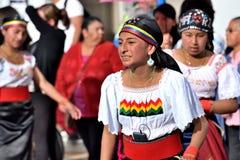Rocznicowy przyjęcie Dla Edukacyjnej jednostki w Otavalo, Ekwador Obraz Stock