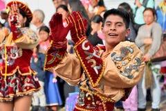 Rocznicowy przyjęcie Dla Edukacyjnej jednostki w Otavalo, Ekwador Zdjęcie Stock