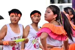 Rocznicowy przyjęcie Dla Edukacyjnej jednostki w Otavalo, Ekwador Zdjęcia Stock