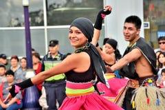Rocznicowy przyjęcie Dla Edukacyjnej jednostki w Otavalo, Ekwador Fotografia Royalty Free