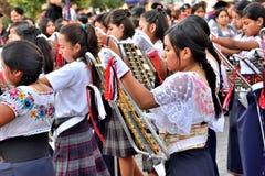 Rocznicowy przyjęcie Dla Edukacyjnej jednostki w Otavalo, Ekwador Obrazy Stock