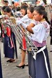 Rocznicowy przyjęcie Dla Edukacyjnej jednostki w Otavalo, Ekwador Fotografia Stock