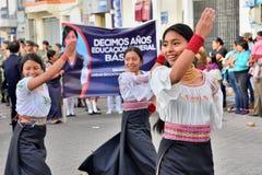 Rocznicowy przyjęcie Dla Edukacyjnej jednostki w Otavalo, Ekwador Obraz Royalty Free