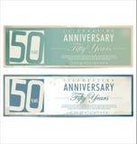 Rocznicowy retro tło, 50 rok Zdjęcia Stock