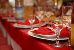 rocznicowy szczegółu stołu ślub Obrazy Royalty Free