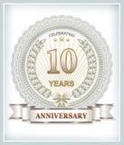 10 rocznicowych rok Zdjęcie Stock