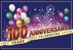 Rocznicy karta 100 rok Fotografia Stock