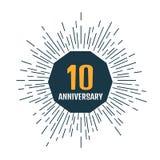 Rocznicy 10 logo również zwrócić corel ilustracji wektora Obrazy Stock