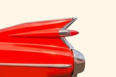 Roczników Amerykańscy klasyczni retro 50's chromują samochodowego ogonu żebro Fotografia Royalty Free