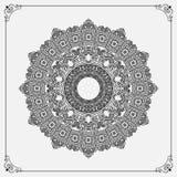 Roczników arabesk mandala/różyczka ilustracja wektor