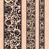 Roczników bezszwowi dekoracyjni wzory w postaci pasków Fotografia Royalty Free
