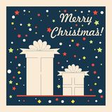 Roczników boże narodzenia i Szczęśliwy nowego roku wakacje ilustracja wektor
