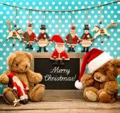 Roczników bożych narodzeń dekoraci antyka zabawki Retro blackboard Obrazy Stock