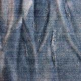 Roczników cajgów tekstura z scuffed. Obrazy Stock