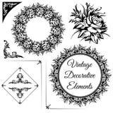 Roczników dekoracyjni elementy Obraz Royalty Free