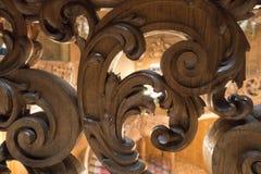 Roczników drewniani wzory woodcarving Zdjęcie Stock