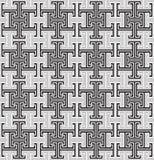 Roczników etniczni textured abstrakcjonistyczni geometryczni seamles Ilustracja Wektor