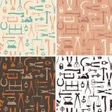 Roczników instrumentów I narzędzi bezszwowy wzór Ilustracji