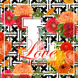 Roczników kwiatów projekt dla koszulki Obrazy Stock