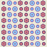 Roczników kwiatów wzór w retro kolorach Obraz Royalty Free