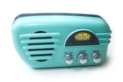roczników lata pięćdziesiąte stylowy radio na białym tle obraz royalty free