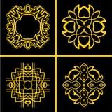 Roczników logowie ustawiający ilustracja wektor