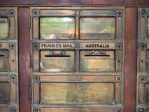 Roczników Mosiężni Listowi pudełka Zdjęcia Stock