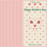 Roczników Mothers dnia Szczęśliwy Typographical tło Fotografia Royalty Free