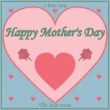 Roczników Mothers dnia Szczęśliwy Typographical tło Obrazy Stock