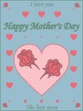 Roczników Mothers dnia Szczęśliwy Typographical tło Zdjęcie Royalty Free