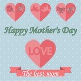 Roczników Mothers dnia Szczęśliwy Typographical tło Zdjęcia Royalty Free