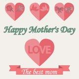 Roczników Mothers dnia Szczęśliwy Typographical tło Zdjęcia Stock