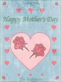 Roczników Mothers dnia Szczęśliwy Typographical tło Fotografia Stock