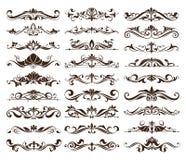 Roczników ornamenty projektują elementów curlicues bielu kwiecistego tło Zdjęcie Royalty Free