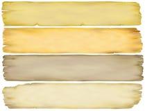 Roczników Papierowi sztandary Zdjęcie Stock