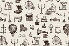 Roczników przedmiotów wzór Zdjęcie Stock