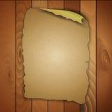Roczników puści drewniani panel Obrazy Stock