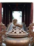 Roczników retro elementy i dekoracyjni ornamenty w Chińskim wietnamczyku projektują Fotografia Royalty Free