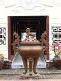 Roczników retro elementy i dekoracyjni ornamenty w Chińskim wietnamczyku projektują Obrazy Stock