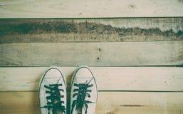 Roczników sneakers Zdjęcia Stock