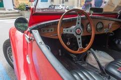 Roczników sportów samochodu deska rozdzielcza Obrazy Royalty Free