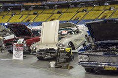 Roczników sportowi samochody Zdjęcia Royalty Free