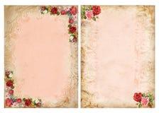 Roczników tła z różami Zdjęcia Stock